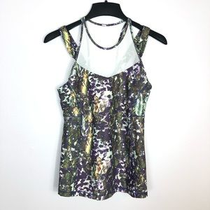 Lululemon Running in the City Mesh Tank Top Floral